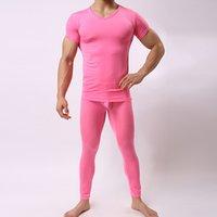medias ultra transparentes al por mayor-Sexy Men 1 Pijamas Conjunto Use Pijamas Ropa de dormir pura ultra-tight Tight 3D corte Lounge Pantalones Lencería erótica