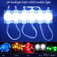 luz len al por mayor-DHL libre 3W módulo LED impermeable con len inyección Blanco cálido 3000 k Luz de la luz de fondo de doble lado Luz de módulo LOGO