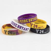 ingrosso bracciale kobe-Kobe 24 avatar inspirational bracelet sport basket cinturino in silicone Mamba braccialetto cinturino commemorativo