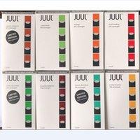 Wholesale cool mints - Juul Pods 0.7Ml Cartridges 200 Puffs Vapor Classic Tobacco Cool Mint Virginia Mango Flavor 4 Pods a Pack 7 Flavors For Juul Vape Kit