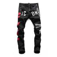 pantalons habillés achat en gros de-Jeans de marque italienne hommes 2019 nouvelle mode de haute qualité masculine designer classique jeans marque de luxe pantalon mode masculine Jeans # 6801