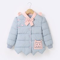 Wholesale Cute Winter Coats For Girls - Girls cotton suits in the princess winter coat female baby bownet down cotton cute children's clothing for children's Christmas gifts