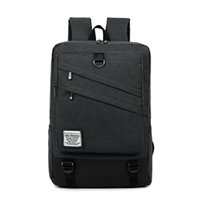 Wholesale 17 laptop computer bag - Fashion Men and Women Laptop Backpack 15.6 17 Inch Rucksack SchooL Bag Travel waterproof Backpack Male Notebook Computer Bag