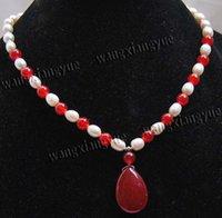 collar de perlas de rubí al por mayor-Largo 18