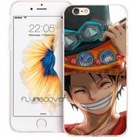étuis iphone singe silicone achat en gros de-Coque Monkey D Luffy Housse de protection en silicone TPU transparente pour iPhone X 7 8 Plus 5S 5 SE 6 6S Plus 5C 4S 4 iPod Touch 6 5 Étuis.