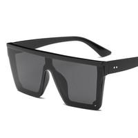 старинные солнцезащитные очки для мужчин оптовых-NYWOOH Vintage Oversized Sunglasses Women  Designer Shield Mirror Sun Glasses Men One-piece Lens Driving Sunglass