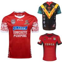 taza de prueba al por mayor-Tonga Rugby League 2017 Mate Ma'a Tonga Pacific Test Jersey RLWC2017 Mens Lenco Rugby League World Cup Jersey tamaño S-3XL
