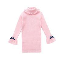 camisas turtleneck das crianças venda por atacado-Meninas Blusas Para Crianças Assentamento Camisas Outono Inverno Gola Alta Vestidos Para Meninas Malhas 4 6 8 10 12 Anos Blusas Quentes