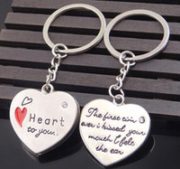 ingrosso matrimonio auto coppia-Love Heart to You Portachiavi con Crystal Wedding Party Gifts Couples Lovers Portachiavi Lega Portachiavi Car Portachiavi