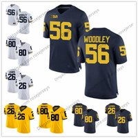 Wholesale long branches - Michigan Wolverines #26 Jourdan Lewis 56 LaMarr Woodley 77 Jake Long 80 Alan Branch White Navy Blue Yellow Stitched College Football Jersey