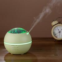 máquina de difusor de aroma venda por atacado-Luz e Sombra Aromaterapia Máquina Aroma Difusor de Óleo Essencial Umidificador Ultra-sônico Fresco Névoa Criador com 7 Cores Luzes LED para Spa