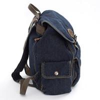 mochilas juveniles al por mayor-Las mujeres de la manera mochila de alta calidad de la juventud del dril de algodón mochilas muchachas adolescentes femenino bolso de la escuela del estilo de muy buen gusto bolsa de viaje