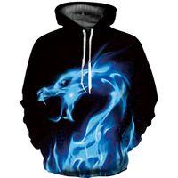 Wholesale plus size galaxy print tops online – oversize Hot Fashion Men Women d Sweatshirts Print Spilled Milk Space Galaxy Hoodies Thin Unisex Pullovers sweat femme Tops plus size
