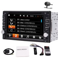 Wholesale remote camera transmitter resale online - Camera quot In Dash Double DIN Car GPS Stereo car DVD Player Bluetooth Radio FM AM RDS1080p Video Dual Knobs Remote Control GB GPS