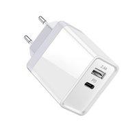 ingrosso eu plug mela-30w caricatore pd veloce Dual USB di uscita di tipo C con gli Stati Uniti Regno Unito UE spina opzionale per il telefono iPhone di Samsung