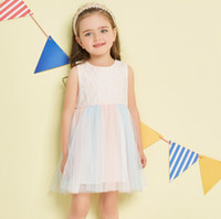 Wholesale dress neck designs for girls for sale - Group buy Candy Mutilcolor Light Princess Dress Beautiful Design Embroidered Dress For Girls Casual Wear