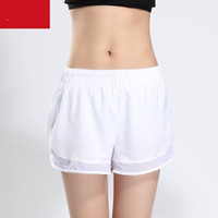 Wholesale quality sexy yoga pants resale online - Women Running Yoga Shorts Sexy Fitness Pants Dry Net Yarn Ventilation Lady Gym Athletic Wear High Quality jx Ww