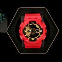 reloj de los nuevos hombres del deporte al por mayor-Nuevo impacto de alta calidad marca de moda reloj deportivo hombre impermeable Big Boy LED digital multifunción, zona múltiple, caja, entrega gratis