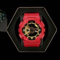 erkek çocuklar için yeni saatler toptan satış-Yeni etki yüksek kalite moda marka spor İzle erkekler su geçirmez büyük boy dijital LED çok fonksiyonlu, çok bölge zaman, kutu, ücretsiz teslimat