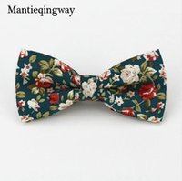 Wholesale Red Bow Tie For Men - Mantieqingway Popular Bow Ties Cotton Floral Neckwear Bowtie for Men Suit Bow Tie for Mens Wedding Party Fashion Accessories