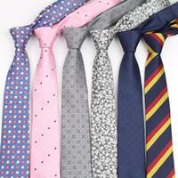 erkekler için kravatlar toptan satış-Erkek Iş Kravat Resmi Çizgili Tasarımcı Jakarlı Düğün Kravat Dar Klasik Corbata Boyunbağı Resmi Gravata No.1-20