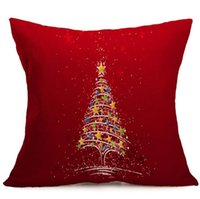Wholesale claus case resale online - 10 Design Merry Christmas pillowcase Santa Claus printed sofa cushion cover car waist pillow case home decoration Happy New Year gifts