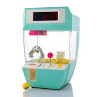 настольная игра машина оптовых-Конфеты граббер мини Коготь машина игры кран граббер игрушка электронный стол Настольные часы цифровой Nixie дети будильник для детей