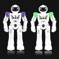 Wholesale Rc 14 - RC Intelligent Robot Remote Control Smart Programmable Robots Walk Slide Dance Music Talk Demostration Interactive Robot Toys 2018 OTH870