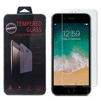 Wholesale Anti Glare Protectors - For iPhone X 8 7 6 Plus Samsung Note 8 S8 S7 HTC M8 LG K7 Screen Protector Tempered Glass Screen Protectors Film
