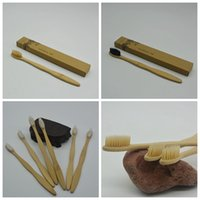 yumuşak fırçalar toptan satış-Bambu Diş Fırçası Bambu kömür Diş Fırçası Otel Seyahat için Yumuşak Naylon Capitellum Bambu Diş Fırçaları Diş Fırçası GGA973