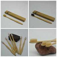 hotel de escova de dentes venda por atacado-Escova de Dentes de Bambu Escova De Dentes De Bambu Escova De Dentes de Nylon Macio Capitellum Escovas de Dentes de Bambu para o Hotel de Viagem Escova de Dentes GGA973
