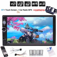 Wholesale up mp3 speaker - Backup camera+Double 2 DIN Car Radio Stereo 7'' Capacitive TouchScreen Bluetooth USB TF(up to 32GB) MP5 Player in dash car pc system