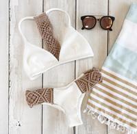 Wholesale Womens Vintage Bathing Suits - Sexy Womens Bandage Sports Bikini set Newest 2018 Summer Push-up Padded Bra Vintage Swimsuits Bathing Suit Swimwear