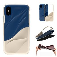 Wholesale Design Back Covers - For iPhone x 8 7 6 Plus 2 In 1 Soft TPU Case Water Ripples Design PC Back Cover Shockproof Cases 2018 New