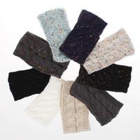 ingrosso fasce di filati-Moda nuova signora fascia autunno e inverno lana variegata dot filato acrilico per maglieria accessori per capelli donna
