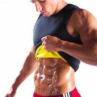 корсет т оптовых-Мужская неопрена жилет футболка сауна ультра тонкий пот рубашка формирователь тела для похудения корсет топы