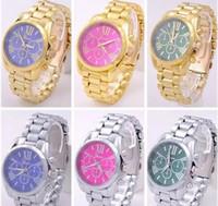 relógios femininos venda por atacado-Relógios de moda mulheres homens ouro relógios de ouro dos homens de esportes de quartzo-relógio dual time relogio masculino esportivo