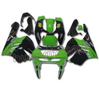 95 zx9r verkleidungen großhandel-Grüne schwarze Verkleidungen für Kawasaki ZX9R 1994 95 96 97 ABS-Einspritzungs-Hauben neu