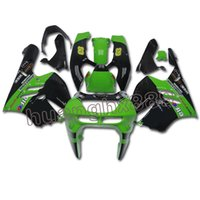 carenagens kawasaki zx14 venda por atacado-Verde Preto Carenagem Para Kawasaki ZX9R 1994 95 96 97 ABS Injection Cowls Novo