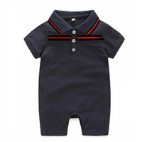 Wholesale bebe sizing - Baby Boy Clothes Summer Baby Girls Clothing Sets Cotton Baby Rompers Newborn Clothes Roupas Bebe Infant Jumpsuits