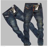 petits pieds jeans achat en gros de-Livraison Gratuite Nouvelles marques jeans Mens réparation droite rétro Do vieux Little pieds hommes Long pantalon rétro Jeans taille 28-36