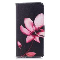 держатель для лотоса оптовых-Лотос Flower Мобильный телефон Кошелек Стенд PU кожаный чехол с держателем карты денег (112 моделей для опции)
