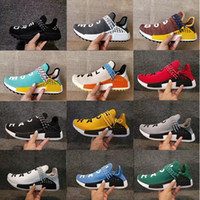 Wholesale Running Races - WholeSale Original Human Race Pharrell Williams Hu trail NERD Men Running Shoes Women noble ink core Black White Red Sport Sneaker Shoes 47