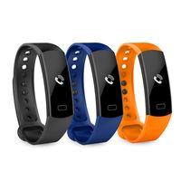 ingrosso braccialetti di salute-C07 Smart Watch Braccialetto Fitness Tracker Cardiofrequenzimetro Impermeabile Tracker Contapassi Chiama ricordati Health Wristband bet mi band 2