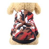 roupas para cachorros venda por atacado-100% Algodão Roupas Pet Vestuário Sacos e Bonés 2018 Trajes DIY Casaco de Cachorro para Xsmall Cães Filhote de Cachorro Menino Meninas Inverno Pug Acessórios
