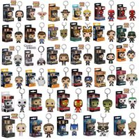 Wholesale deadpool marvel heroes - Funko POP Marvel Super Hero Harley Quinn Deadpool Harry Potter Goku Spiderman Joker Game of Thrones Figurines Toy Keychain action figures