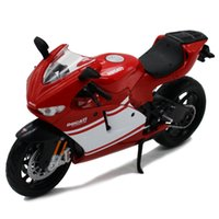 Wholesale metal train sets - 1:12 Ducati DESMOSEDICI RR Simulation Alloy Motorcycle Model Red and White