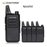 Wholesale mini radio walkie talkie - 4pcs lot Zastone X6 Portable walkie talkie UHF 400-470MHZ Walkie Talkie Kids Ham Radio Transceiver Mini Handheld Radio