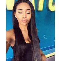 perucas não processadas venda por atacado-Popular Full Lace Wigs Com Cabelo Do Bebê 100% Não Transformados Peruano Virgem Perucas de Cabelo Humano Para As Mulheres Negras Peruca Dianteira Do Laço