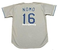 Maglia HIDEO NOMO 1995 Majestic Throwback Away